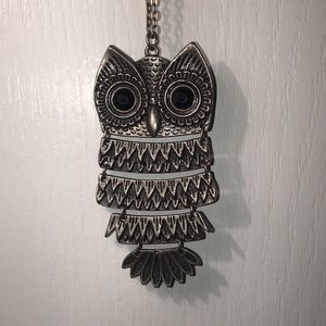 Long chained owl necklace